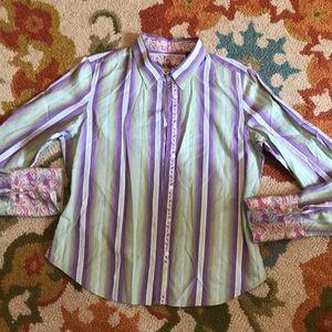 Robert Graham cotton button up shirt